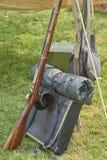 Het Amerikaanse Geweer van de Burgeroorloginfanterie Stock Foto's