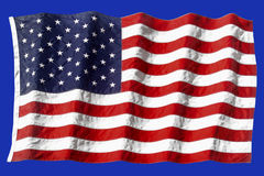 Het Amerikaanse Golven van de Vlag Stock Fotografie