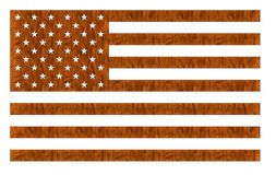 Het Amerikaanse Hout van de Vlag stock illustratie
