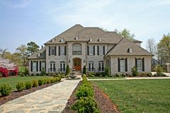 Het Amerikaanse huis van de luxe Royalty-vrije Stock Afbeelding