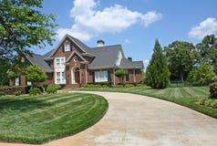 Het Amerikaanse huis van de luxe Stock Foto