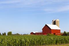 Het Amerikaanse Landbouwbedrijf van het Land stock afbeelding