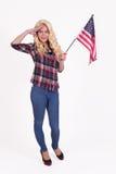 Het Amerikaanse meisje groeten royalty-vrije stock foto