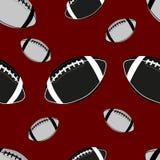 Het Amerikaanse naadloze patroon van de voetbalbal vector illustratie
