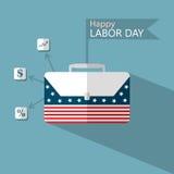 Het Amerikaanse ontwerp van de Arbeidsdag, zaken Stock Afbeeldingen
