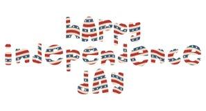 Het Amerikaanse patriottische van letters voorzien Stock Afbeeldingen