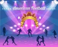 Het Amerikaanse VectorOntwerp van het Schild van de Voetbal Vector Illustratie