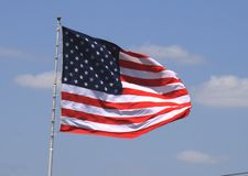 Het Amerikaanse vlag vliegen Stock Foto's