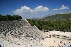 Het Amfitheater van Epidaurus, Griekenland Stock Foto