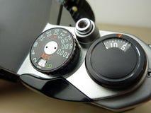 Het analoge detail van de filmcamera Stock Foto's