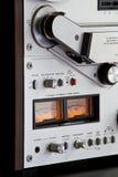 Het analoge Stereo Open Registreertoestel van het Dek van de Band van de Spoel Stock Fotografie