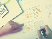Het analyseren van BedrijfsGegevens Royalty-vrije Stock Foto
