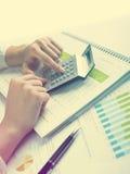 Het analyseren van BedrijfsGegevens Stock Afbeelding
