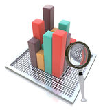 Het analyseren van de Gegevens Stock Afbeeldingen