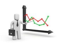 Het analyseren van de grafiek Royalty-vrije Stock Afbeeldingen