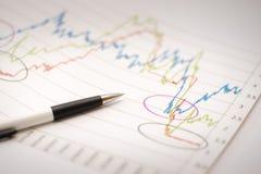 Het analyseren van financiële gegevens Royalty-vrije Stock Afbeelding