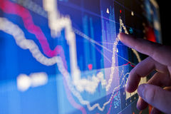 Het analyseren van gegevens Stock Fotografie