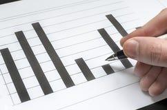 Het analyseren van grafiek Stock Afbeeldingen