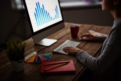 Het analyseren van grafiek Stock Fotografie