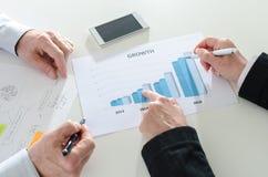 Het analyseren van groeiende resultaten Royalty-vrije Stock Foto