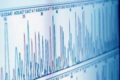 Het analyseren van wetenschapsgrafiek op het scherm Royalty-vrije Stock Fotografie