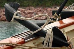 Het anker van het schip op dek Royalty-vrije Stock Afbeelding