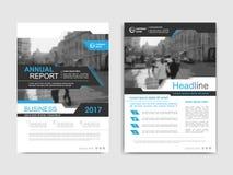 Het annnual rapport van het dekkingsontwerp, vlieger, presentatie, brochure Royalty-vrije Stock Foto