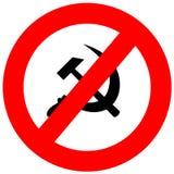 Het anti Teken van het Communisme Stock Afbeelding