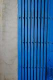 Het antieke blauw van de de deurkleur van het stijlstaal royalty-vrije stock fotografie