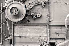 Het antieke detail van de korrelmaaimachine Stock Fotografie