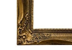 Het antieke frame hoekdetail is stock fotografie