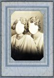 Het antieke Frame van de Foto van de jaren '20 met anoniem Royalty-vrije Stock Foto's