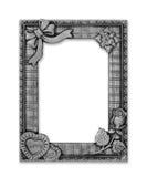 Het antieke grijze kader op de witte achtergrond Stock Afbeelding