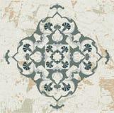 Het antieke ottoman grungy ontwerp van de behangrooster Stock Afbeelding