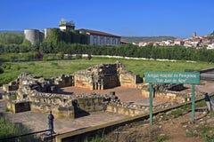 Het antieke pelgrimsziekenhuis San Juan de Acre, Spanje Stock Afbeeldingen