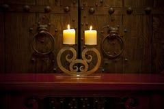 Het antieke rustieke huiswaren plaatsen Royalty-vrije Stock Foto's