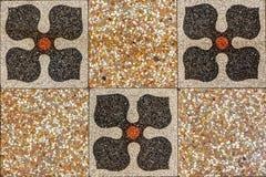 Het antieke Siciliaanse patroon van de Vloertegel Stock Foto's