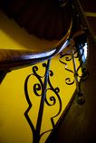 Het antieke Traliewerk van het Trappenhuis Stock Foto