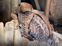 Het antieke vlekkenmiddel van de graanpit Stock Foto's