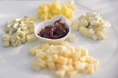 Het aperitief van het kaasvoedsel Royalty-vrije Stock Foto