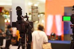 Het apparaat van de filmopname om gebeurtenis voor uitzending te registreren stock foto's