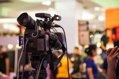 Het apparaat van de filmopname om gebeurtenis voor uitzending te registreren royalty-vrije stock foto