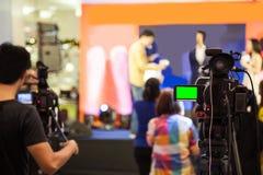 Het apparaat van de filmopname om gebeurtenis voor uitzending te registreren royalty-vrije stock fotografie