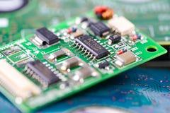 Het apparaat van de de hoofdraadselektronika van de computerkring cpu: concept hardware en technologie stock foto's