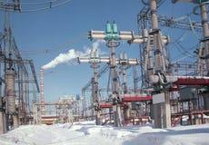 Het apparaat van distributie van een elektriciteit. Phot Royalty-vrije Stock Foto's
