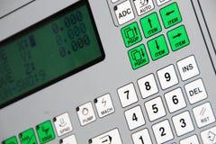 Het apparaat van gegevensinput voor werktuigmachines met digitaal beheer Royalty-vrije Stock Foto's