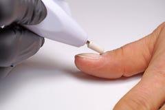 Het apparaat voor de snijder van het manicuremalen voor hardwaremanicure, een pedicure en een correctie van spijkers De elektrisc royalty-vrije stock afbeelding