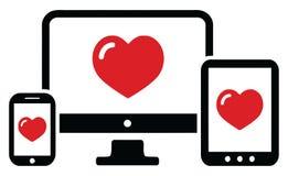 Het Apparatenreeks van de liefdecomputer Royalty-vrije Stock Afbeeldingen