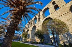 Het Aquaduct van Kavala stock afbeeldingen