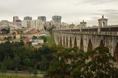 Het Aquaduct van Lissabon stock afbeelding